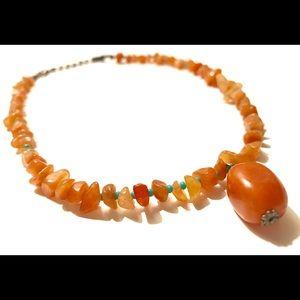 Jewelry - Orange rock necklace